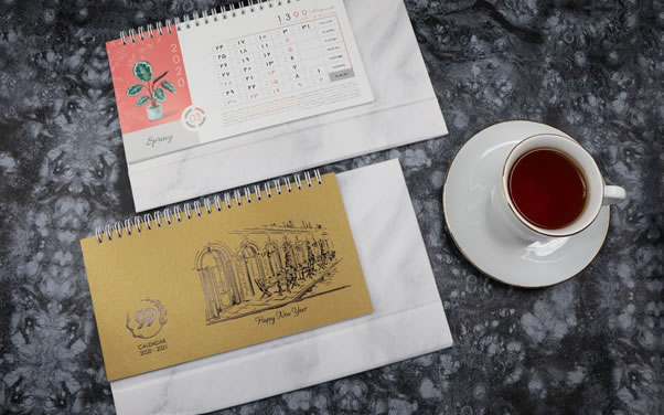 تقویم رومیزی گلدان