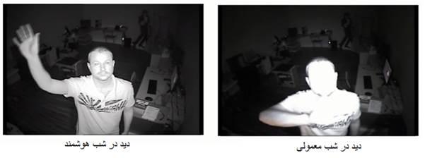 تفاوت دید در شب دوربین مداربسته هوشمند و معمولی