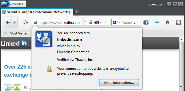 Linked in ssl